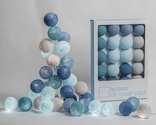 La Case de Cousin Paul Catena luminosa Cap Reinga con 20 sfere luminose a forma di batuffolo di cotone