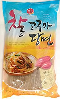 Sempio Glass Noodles, Korean Vermicelli, Dangmyun, Sweet Potato Starch (0.99 lbs/450g)