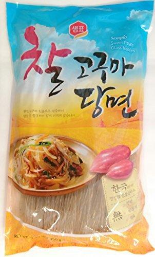 Sempio Glass Noodles, Korean Vermicelli, Dangmyun, Sweet Potato Starch (0.99 lbs/450g) by Sempio