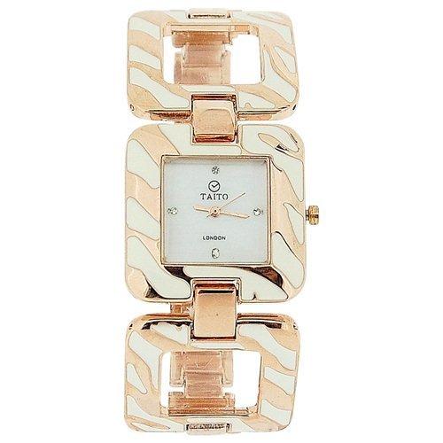 Taito London TLC1Rose - Reloj para Mujeres, Correa de Metal Multicolor