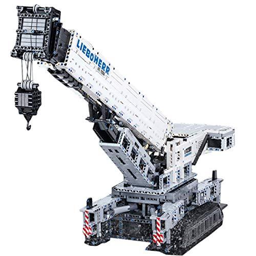 WEERUN Grúa de ingeniería Liebherr 11200, 4000 piezas, 2,4 G, grúas con control remoto con 12 motores, bloques de sujeción, juguete de construcción compatible con Lego Technic
