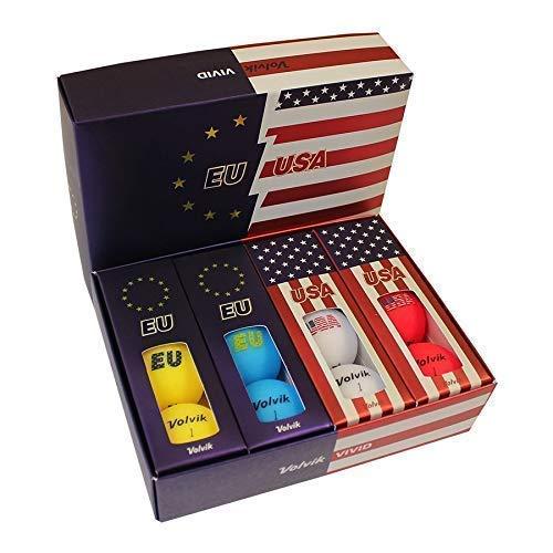Volvik Vivid Golfbälle, 12 Stück, Unisex, 0000713, EU & USA, One Dozen