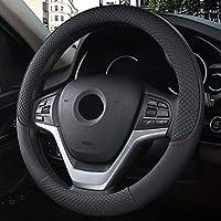アウトドアカーアクセサリー 37センチメートル、38センチメートルインテリアアクセサリースポーツ自動車のステアリングホイールは、滑り止めカバーカーは、スタイリング (Color : Black, Size : FREE)