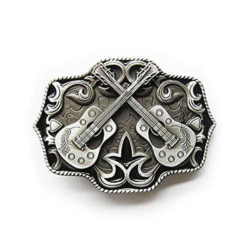eeddoo® Gürtelschnalle - Gitarren - Western Country Music - Buckle (Buckle für Wechselgürtel für Damen und Herren |Belt Frauen Männer Oldschool Rockabilly Metall Gothic Wave Rock Biker Western Trucker