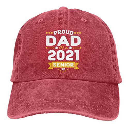 Proud Dad of A 2021 Senior Class of 2021 Gorra de béisbol ajustable Sombrero de vaquero de algodón, moda para hombre mujer