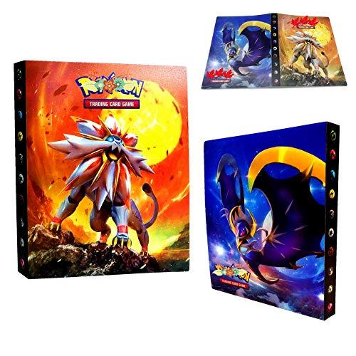 Classeur pour Cartes Pokemon, Albums Pokemon GX EX Trainer, Albums de Cartes à Collectionner, 30 Pages Peut contenir jusqu'à 240 Cartes, (Dieu Soleil)