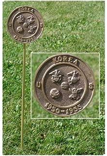 US Flag Store Korean War Veteran Grave Marker - in Cast Bronze