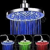 CCWDRZ Ensemble de douche-Pommeau de douche RVB LED de 8 po en acier inoxydable pour salle de bains