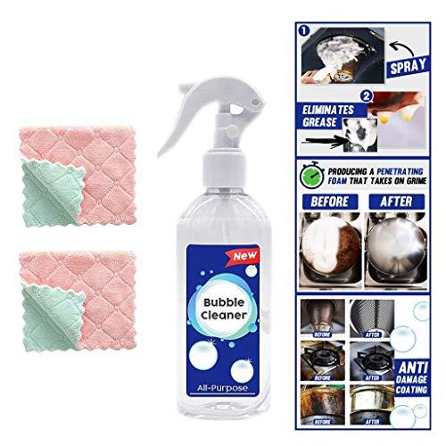 LZEN Limpiador de Burbujas en Spray sin Enjuague de Uso múltiple Agente de Limpieza Universal, elimine rápidamente Las Manchas difíciles para Evitar la decoloración y la decoloración