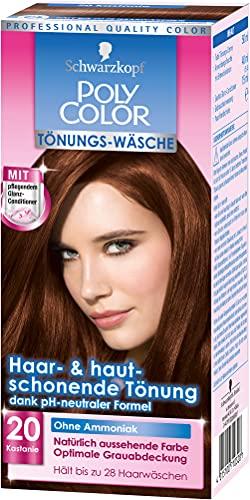 Poly Color Tönungs-Wäsche Haarfarbe, 20 Kastanie, 3er Pack (3 x 153 ml)