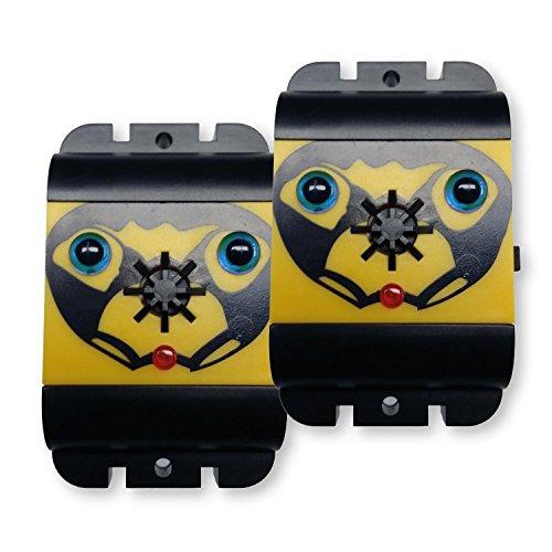 ISOTRONIC® Repellente per Piccioni per il Balcone - Sensore Ultrasuoni - Scaccia Piccioni - Alimentato a Batteria - Anti Piccioni - Allontana Piccioni - Repellente senza spine per Uccelli