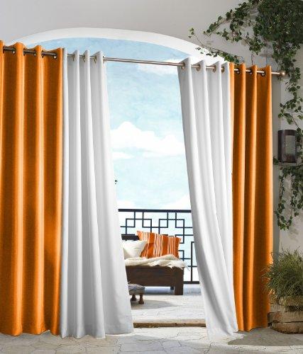 extérieur Décor Tonnelle Intérieur Extérieur Panneaux de fenêtres, 50 par 96, Orange