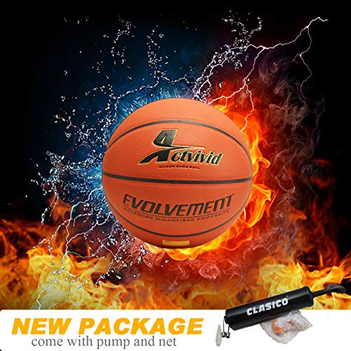 %8 OFF! Actvivid Evolvement Indoor Basketball with Air Pump Net & Needle