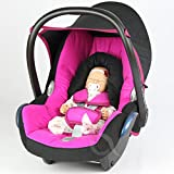 Replacement Seat Cover fits Maxi-Cosi CabrioFix Group 0+ Infant Carrier FULL SET (hot pink/black)