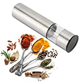 Electric Salt and Pepper Mill Grinder Brushed Stainless Steel Finish, Ceramic Mechanism Great