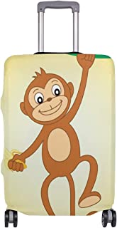 Monkey With Banana Suitcase Cover Luggage Cover ONLY COVER