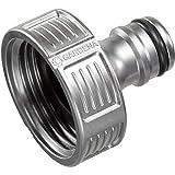 Gardena Premium Hahnverbinder 33.3 mm (G 1 Zoll): Adapter für Wasserhähne, wertiges Metall, spritzfrei, geballter Wasserfluss, frostsicher (18242-50)