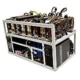 Spartan V2 Open Air GPU Mining Rig Frame Computer Case Chassis - Ethereum ETH Zcash ZEC Monero XMR