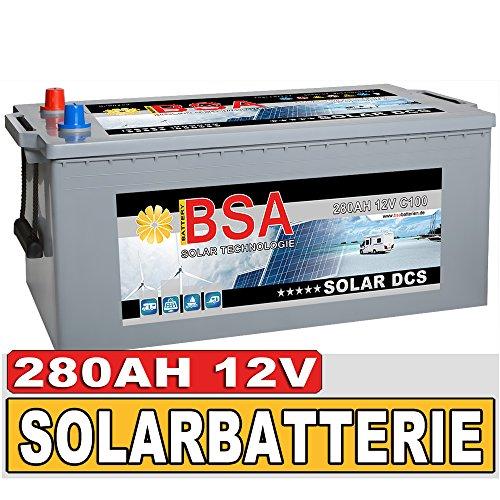 BSA Solarbatterie 12V 280Ah Boot Wohnmobil Versorgungsbatterie wartungsfrei