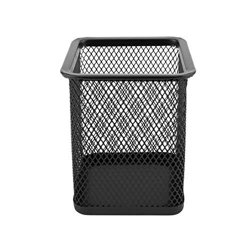 D.RECT Portapenne in rete metallica | Portamatite da scrivania | di forma quadrata | colore: nero