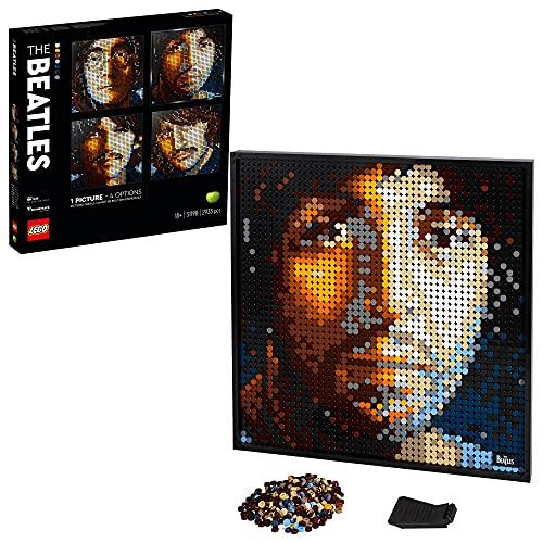 LEGO Art The Beatles Art ,Poster da Collezionista Fai da Te, Decorazione Parete, Quadro Personalizzabile, Set per Adulti, 31198