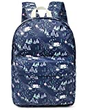 FITMYFAVO Backpack for Teens with Multi-Pockets | Bookbag Daypack Travel Bag (Forest Blue)