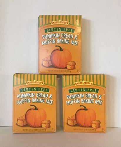 Trader Joe's Baker Josef's Gluten Free Pumpkin Bread & Muffin Baking Mix Three (3) Boxes 17.5 Ounce each. ( 3 Items)