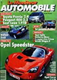 MONITEUR AUTOMOBILE (LE) [No 1218] du 17/08/2000 - ESSAIS - TOYOTA PREVIA - PEUGEOT 406 - SEAT LEON - LA GAMME BRABUS - OPEL AGILA - DAIHATSU MOVE - HYUNDAI ATOS PRIME - SUZUKI WAGON R - OPEL SPEEDSTER - VOLVO S60 - OPEL CORSA