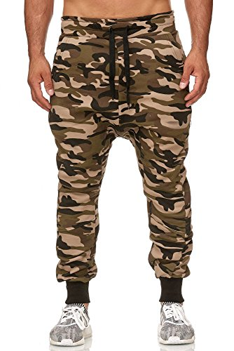 Tazzio Herren Jogginghose im Haremstil P-501 (M, Camouflage)