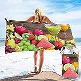 BK Creativity Toallas De Mano,Zumos De Frutas Toallas De Baño Coloridas Y Hermosas para Mujeres para Correr Gimnasio Deportivo 70x140cm