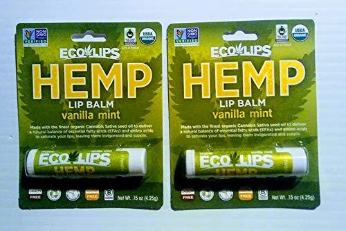 Eco Lips Hemp Lip Balm Vanilla Mint Flavor