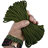 MilSpec Paracord Olive Drab Green 55 ft. Hank, Military Survival Braided Parachute 550 Cord. Use with Paracord Tools for Tent Camping, Hiking, Hunting Ropes, Bracelets & Projects. Plus 2 eBooks.