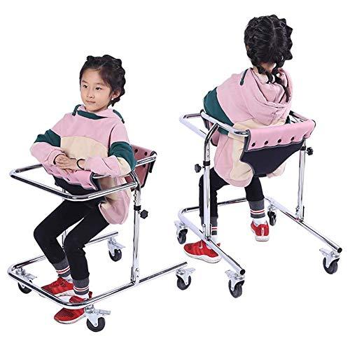 YUXINCAI Instrumentos De Ayuda para Caminar con Asiento Acolchado para Niños Pequeños Niños Adolescentes con Necesidades Especiales, Parálisis Cerebral, Duraderos, Ajustables En Altura 80-120