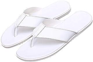 Zapatillas HUYP Chancletas De Verano Playa Simples De Moda Playa Antideslizantes Sandalias Blancas (Tamaño : 42 EU)