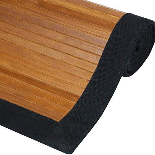 Oriental Furniture Bamboo Rug - Burnt Bamboo - 4' x 6'