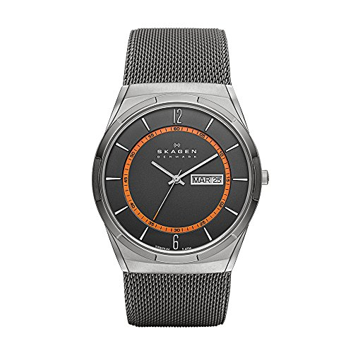 Skagen SKW6007P - Reloj (Reloj de Pulsera, Masculino, Titanio, Gris, Acero Inoxidable,...