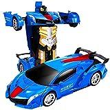 Nsddm RC Coche Recargable 2. 4g RC Robots de vehículos Juguetes for niños Niñas Regalos de Pascua 1:12 Modelo Modelo Deformación Gigante Robot de automóvil Vehículo Racing Gesto Inteligente Sensación