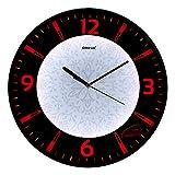 Oreva Back Light Round Plastic Analog Wall Clock (32 cm x 32 cm x 4 cm, Red LED, AQ 1667)