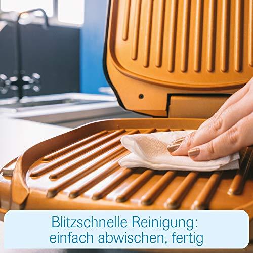 MediaShop Livington Low Fat Grill – kompakter Kontaktgrill für fettarmes Grillen – Elektrogrill mit Antihaft-Keramikbeschichtung und Fettablauf - 7