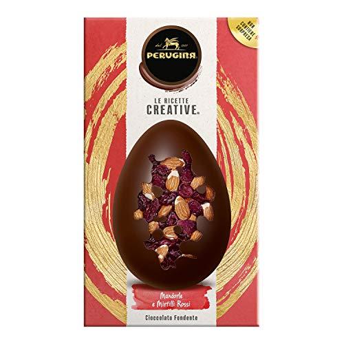 Perugina le Ricette Creative Uovo di Cioccolato Fondente Extra con Mix Mandorle e Mirtilli Rossi Disidratati, 230 Grammi