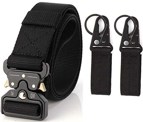 Cintura Tattica, Cintura Militare Tattico per Uomo Heavy,Tessuto in Nylon Cintura,Fibbia Cobra Cintura Resistente di Salvataggio per Sport e Caccia All'aria Aperta Cintura Militare Cinturone da Lavoro