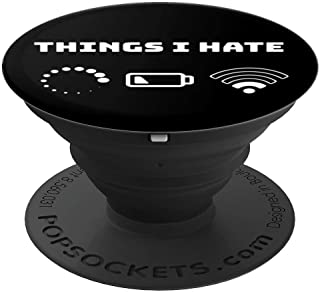 Funny Things I Hate Gamer Programmer Video Game Men Gift  PopSockets Grip and Stand for Phones and Tablets