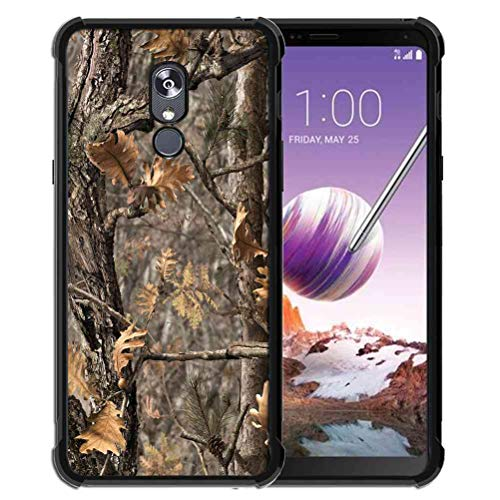 for LG Stylo 5 Case Hunting Camo Fabric Camouflage Pattern, ABLOOMBOX Shock Soft Bumper Slim Rubber Protective Case with Reinforced Corners for LG Stylo 5 Case