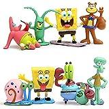 Mini Juego De Figuras, 8 Pcs/Set Dibujos Animados Bob Esponja, Caricatura Cake Topper Niños Mini Baby Shower Fiesta De Cumpleaños Pastel Decoración Suministros