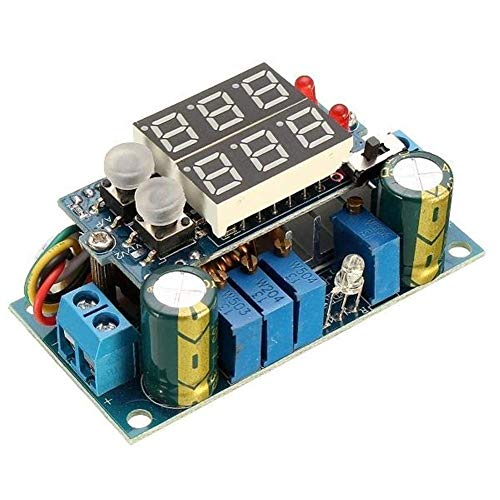 L-YINGZON MPPT Display LED Solar Panel Controller 5A DC-DC Step Down CC/CV Charging Module Module Receivers