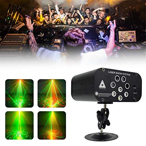 Xiaolizi Nuovo Laser DJ Party Lights Disco Light 128 Modelli proiettore per DJ Decorazione Fase RGB Effetto colorato di Illuminazione per casa KTV Barra di Cerimonia Nuziale,EU