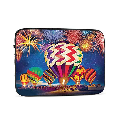 NYIVBE Light Up The Skies Balloon Festival Laptop Sleeve Bag Compatible with MacBook Pro,MacBook Air,Notebook Computer,Tablet,Water Resistant Durable Unisex Portable Laptop Case 17 inch