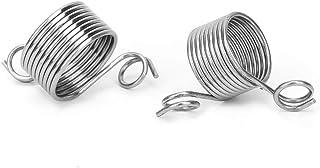 Guide porte-doigt à tricoter dé à tricoter, 2 pièces en acier inoxydable enroulé à tricoter dé à tricoter guide anneau de ...
