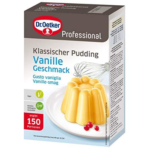 Dr. Oetker Professional Klassischer Pudding mit Vanille-Geschmack, Puddingpulver in 1 kg Packung