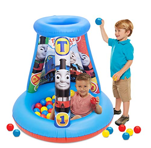 "Thomas & Friends Ball Pit, 1 Inflatable & 15 Sof-Flex Balls, Blue/Red, 28""W x 28""D x 33""H"